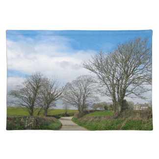 Typical English Country Road in Cornwall Placemat