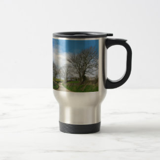 Typical English Country Road in Cornwall Travel Mug