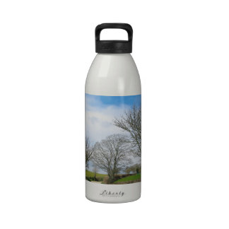 Typical English Country Road in Cornwall Reusable Water Bottle