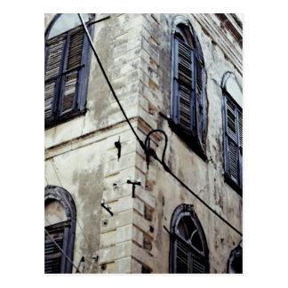 Typical Greek/Cretan Building Postcard