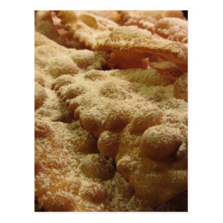 Typical italian carnival sweets postcard