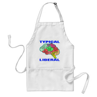 Typical Liberal Socialist Brain Adult Apron