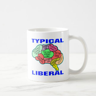 Typical Liberal Socialist Brain Coffee Mug