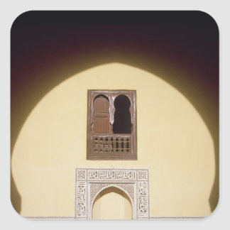 Typical Moroccan Window Square Sticker