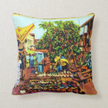 Typical of Early Los Angeles - Olvera Street Pillow