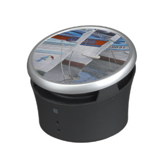 Typical Provencal fishing boats painted in 2 Bluetooth Speaker
