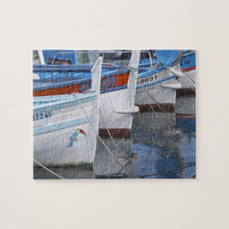 Typical Provencal fishing boats painted in 2 Jigsaw Puzzle