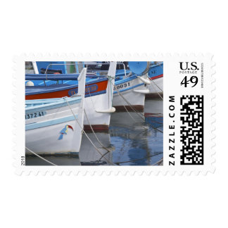 Typical Provencal fishing boats painted in 2 Stamp