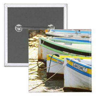 Typical Provencal fishing boats painted in 2 Inch Square Button