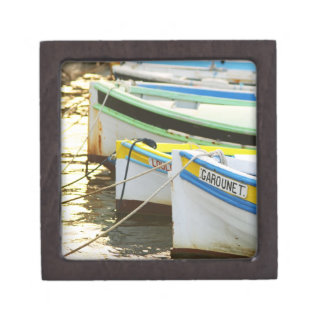 Typical Provencal fishing boats painted in Keepsake Box