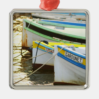 Typical Provencal fishing boats painted in Christmas Ornament