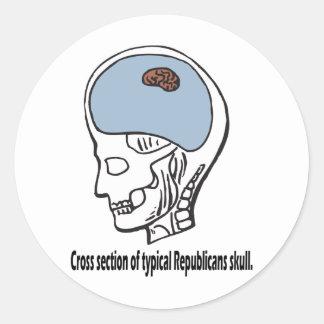 Typical Republican Classic Round Sticker