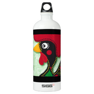 Typical Rooster of Barcelos Aluminum Water Bottle