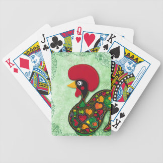 Typical Rooster of Barcelos Bicycle Playing Cards
