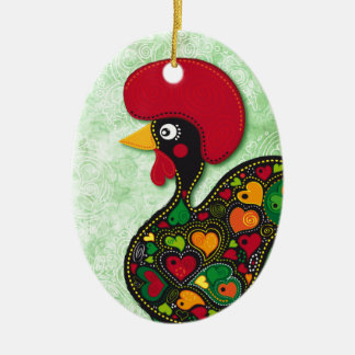 Typical Rooster of Barcelos Ceramic Ornament