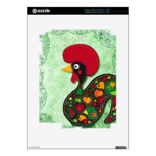 Typical Rooster of Barcelos Decal For iPad 2
