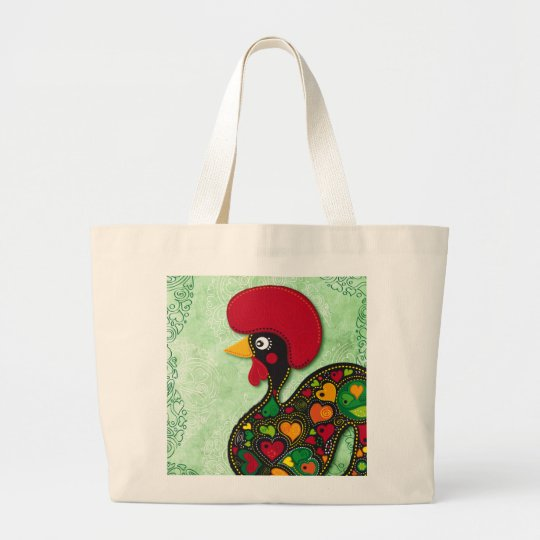 Typical Rooster of Barcelos Large Tote Bag