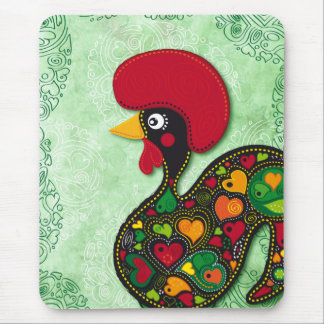 Typical Rooster of Barcelos Mouse Pads