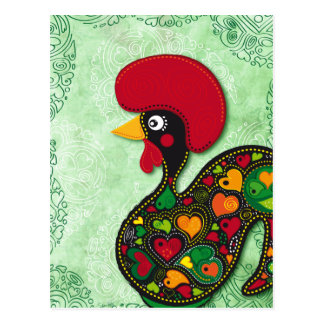 Typical Rooster of Barcelos Postcard