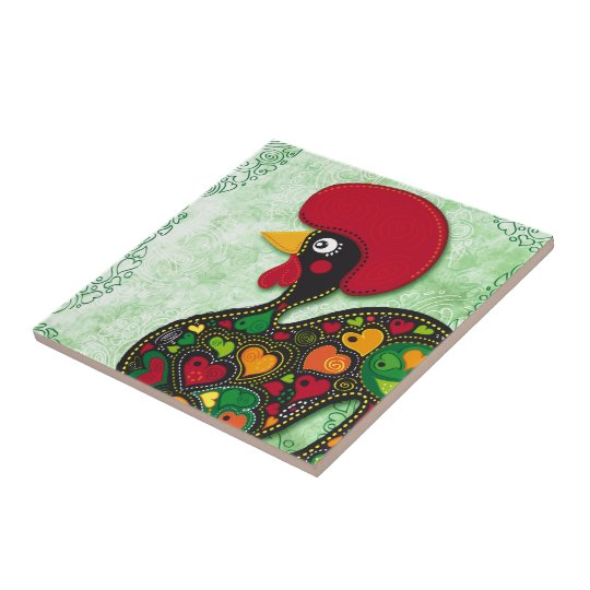 Typical Rooster of Barcelos Tile