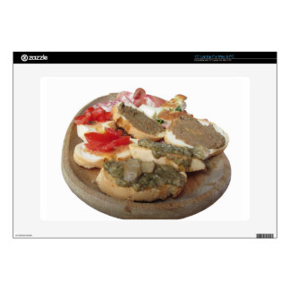 "Typical rustic tuscan appetizer . Italian starter 15"" Laptop Skin"