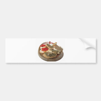 Typical rustic tuscan appetizer . Italian starter Bumper Sticker