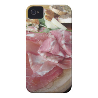 Typical rustic tuscan appetizer . Italian starter iPhone 4 Case-Mate Case