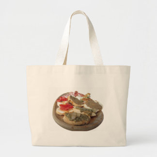 Typical rustic tuscan appetizer . Italian starter Large Tote Bag