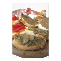 Typical rustic tuscan appetizer . Italian starter Stationery