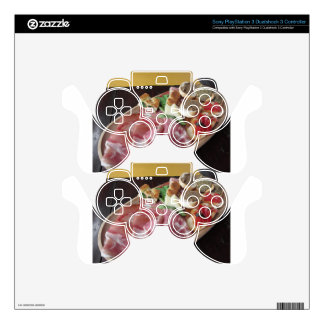 Typical rustic tuscan appetizer with crostini PS3 controller decal