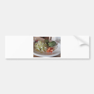Typical South Tyrolean dish of canederli pasta Bumper Sticker
