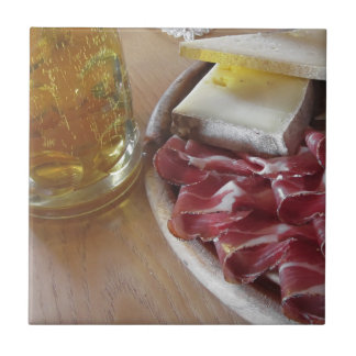 Typical South Tyrolean snack Ceramic Tile