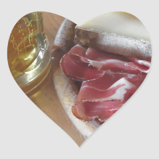 Typical South Tyrolean snack Heart Sticker