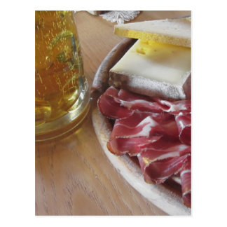 Typical South Tyrolean snack Postcard