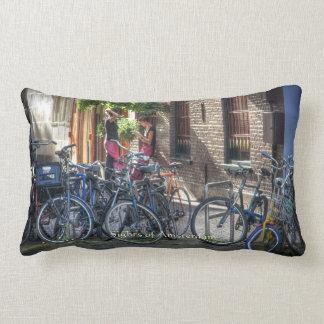 Typical Street Scene, Sights of Amsterdam Lumbar Pillow
