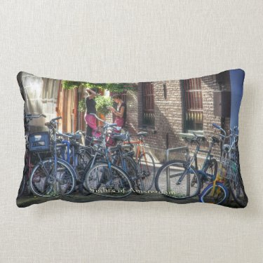Typical Street Scene, Sights of Amsterdam Pillows