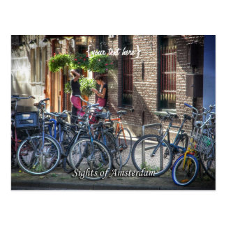 Typical Street Scene, Sights of Amsterdam Post Cards