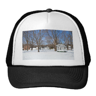 Typical Vermont Town In Winter Mesh Hats