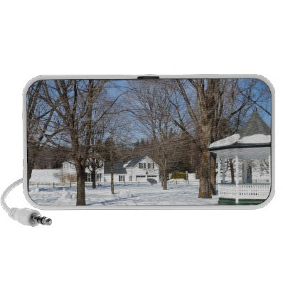 Typical Vermont Town In Winter iPod Speaker