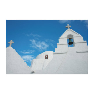 Typical whitewashed church canvas print
