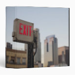 typically exit sign glows bright in the blue 3 ring binder