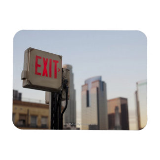 typically exit sign glows bright in the blue magnet