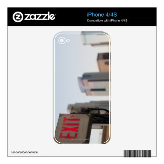 typically exit sign glows bright in the blue skins for the iPhone 4