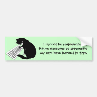 Typing Cat Bumper Stickers