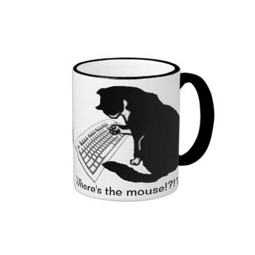 Typing Cat Ringer Coffee Mug