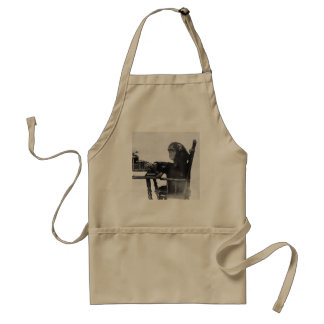 Typing Monkey Adult Apron