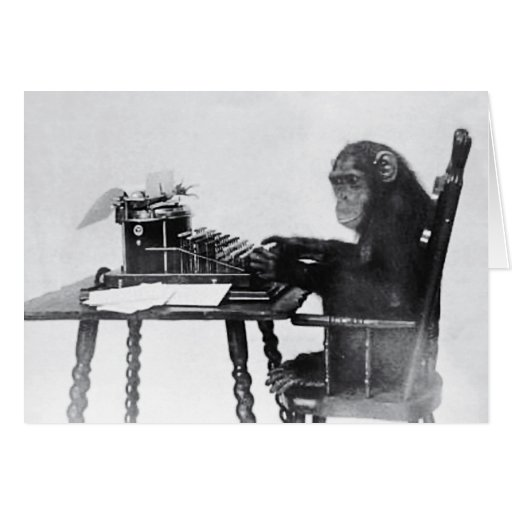 Typing Monkey Card