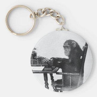 Typing Monkey Keychain
