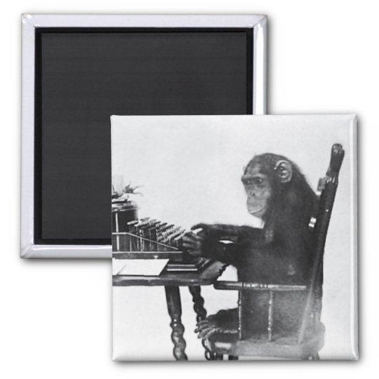 Typing Monkey Magnet