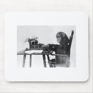 Typing Monkey Mouse Pad